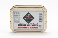 Sardines millésimées à la compote d'oignons 115g