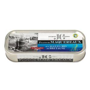 Filets de maquereaux aux algues bio de bretagne 176g