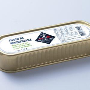 Filets de maquereaux marinés au Muscadet et aux aromates 176g