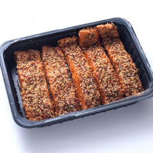 Pavés de Saumon fumé mi-cuit aux épices douces / le kg