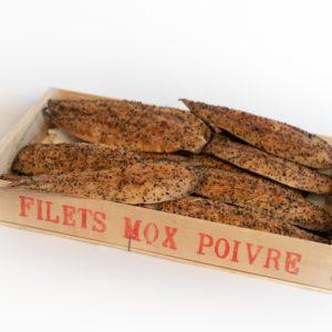 Filets de maquereau au poivre / le kg