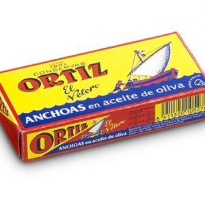 Anchois à l'ancienne à l'huile d'olive 47,5g ORTIZ
