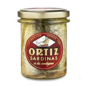 Sardines à l'ancienne à l'huile d'olive 190g ORTIZ