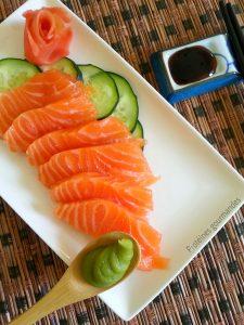 Sashimis de saumon fumé