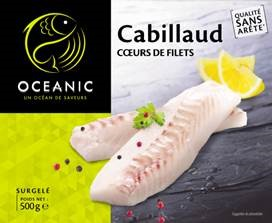 Cœurs de filets de cabillaud 500g