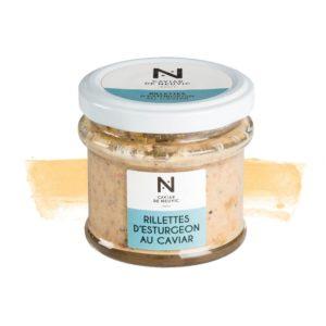 Rillettes d'Esturgeon au caviar et baies roses 90g
