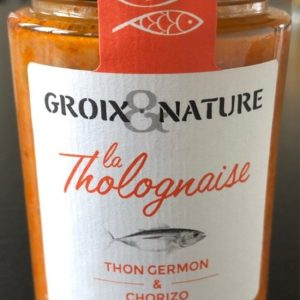 Tholognaise thon germon et chorizo180grs
